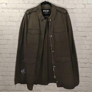 NASTY GAL   Military Oversized Sleeveless Jacket